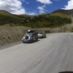 Auf der Passhöhe begegnen wir 2 Teilnehmern der Mongolia Rally