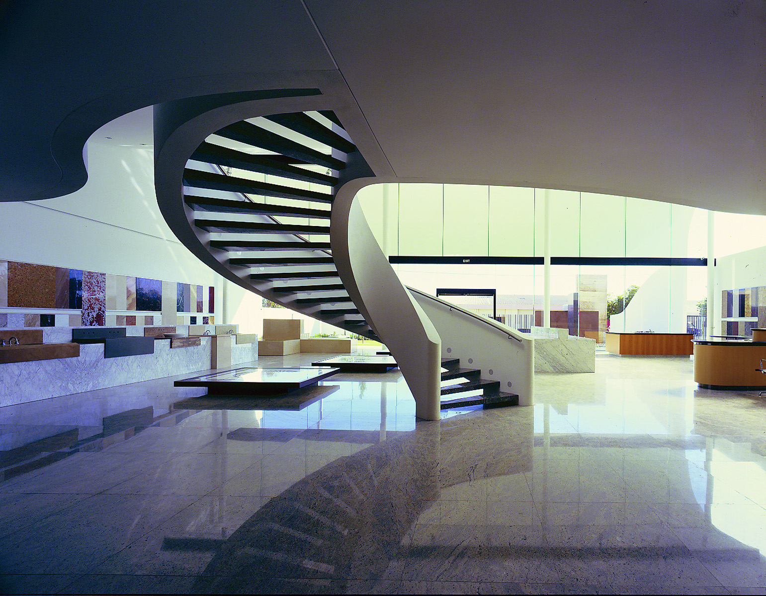 Granite Stone Floor Design Harry Seidler & Associates: Arca Showroom