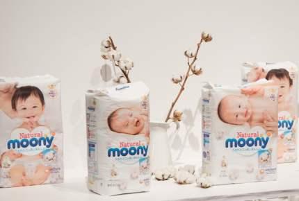 オーガニックコットン配合。ナチュラル志向のママに応える紙おむつ「Natural moony」新発売