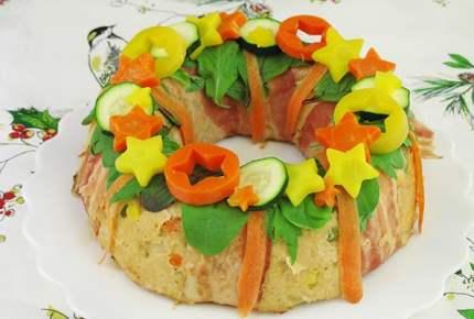 クリスマスレシピ☆ミートローフのリース