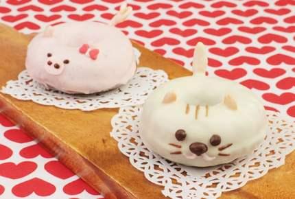 バレンタインレシピ☆ネコとブタの焼きチョコドーナツ