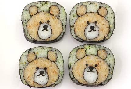 子供が喜ぶ!くまの飾り巻き寿司レシピ