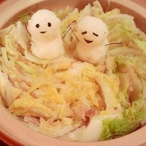 大根おろしアートでいつもの鍋料理がとっても可愛くてうまい!