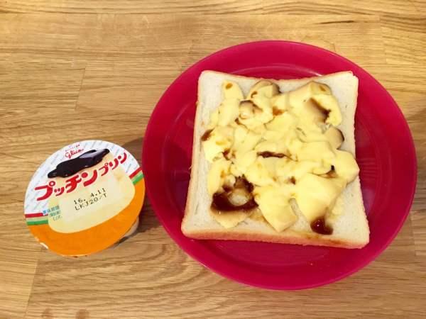 簡単!プリンでフレンチトーストを作ってみました (2)