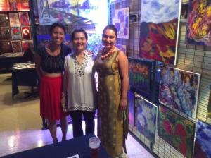 Théâtre Paradoxe, MTL Uncovered 5 à 7. Mai Huynh avec filles. galerie acrylique