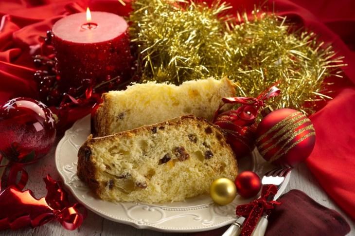Panettone is the traditional Italian Christmas cake.