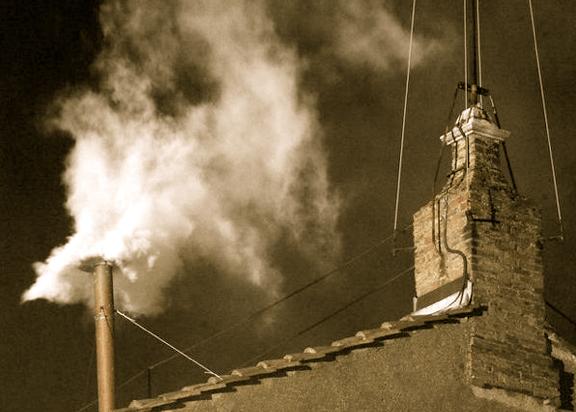 White Smoke from the Sistin Chapel's chimney