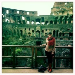 Michaelanne at the Colosseum