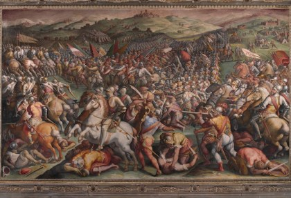 Vasari's controversial painting in the Palazzo Vecchio's Hall of 500