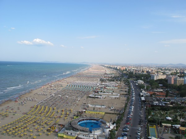 Beach of Rimini, Adriatic Sea