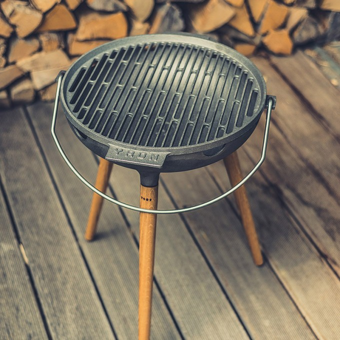 YRON Gussgrill Der BBQ Grill für deinen Garten, Balkon oder deine - kuche im garten balkon grill