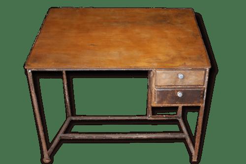 Bureau fer et bois bureau en bois et fer laqué années design