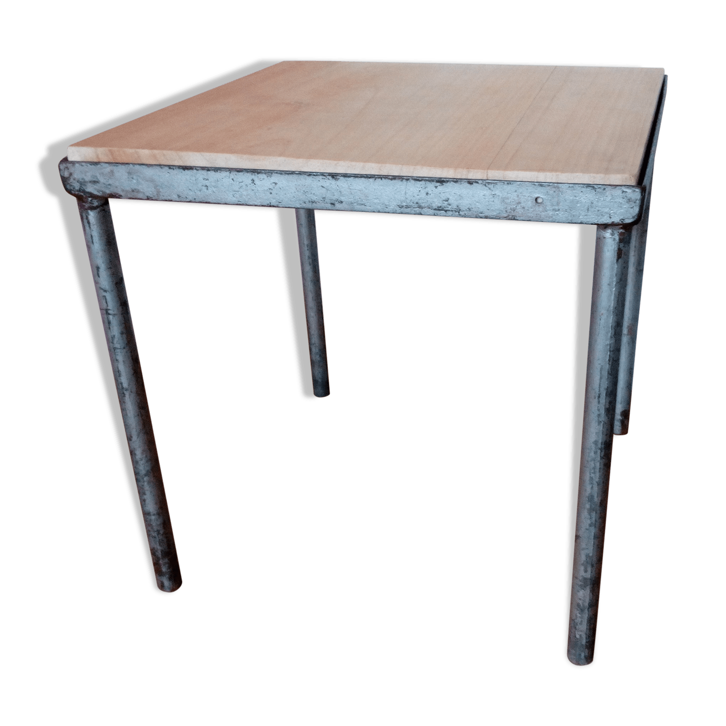 Table Bois Carré Table Carre Style Industriel Amazing Ordinaire Table