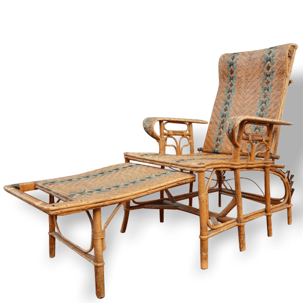 Chaise Longue Rotin Ancienne Chaise Longue En Rotin Rattan And Wicker Vintage 12870