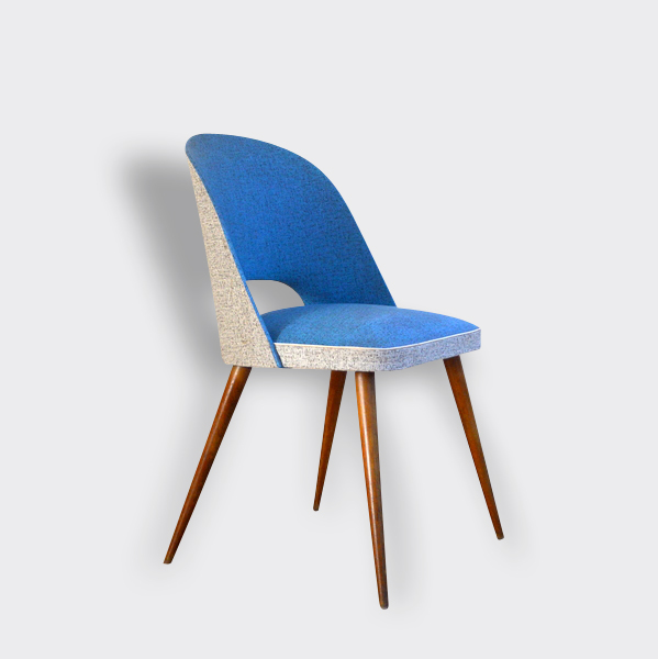 Chaise Cocktail Chaise Cocktail Vintage Bleue Wood Blue Vintage 7171