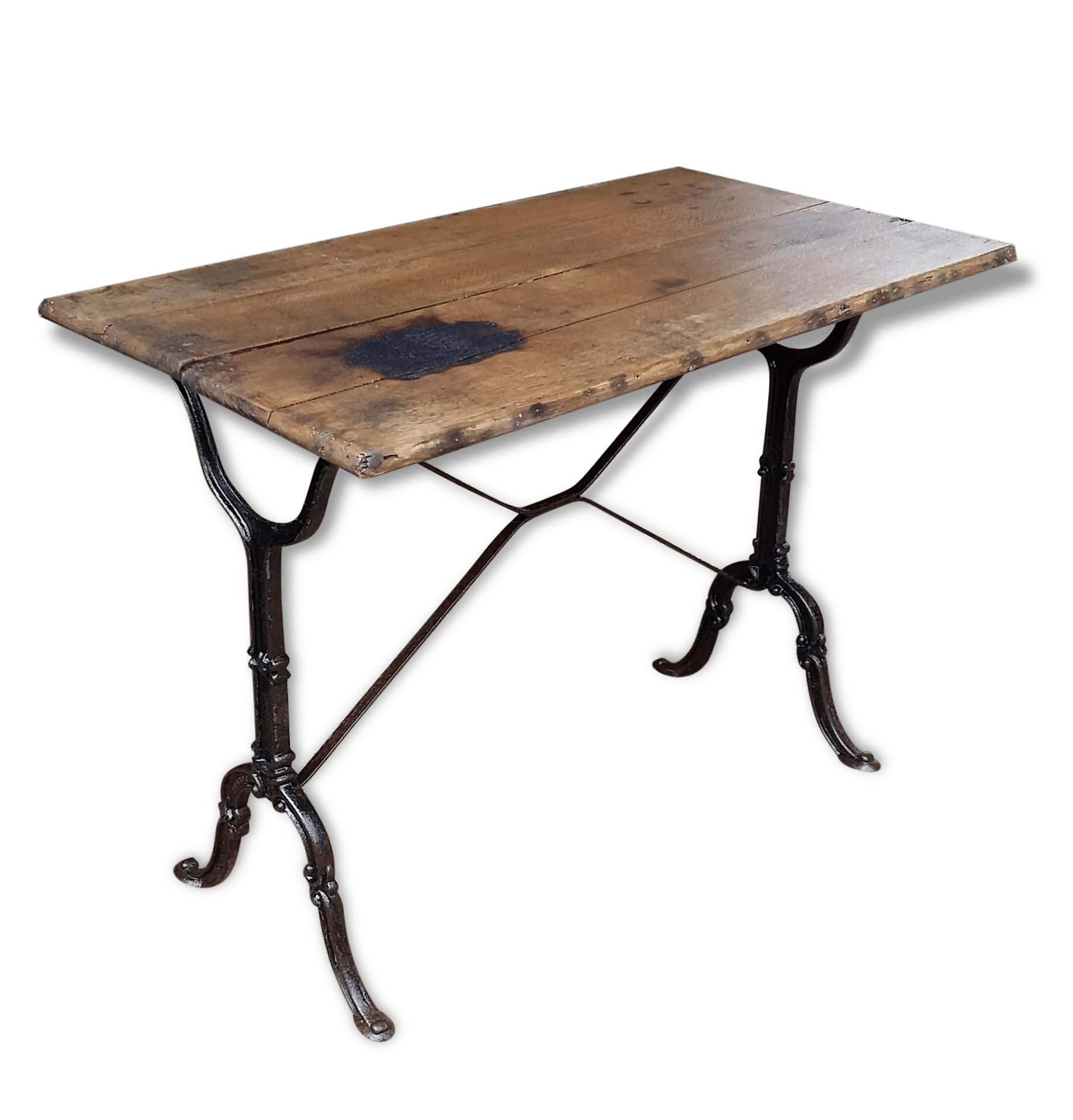 Table Bistrot Pied Fonte Trendy Table Bistrot Trs Ancienne Bois Et Fonte With Table
