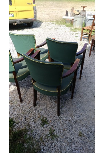 Lot De 4 Fauteuils Bridge Erton Skai Vert Selency