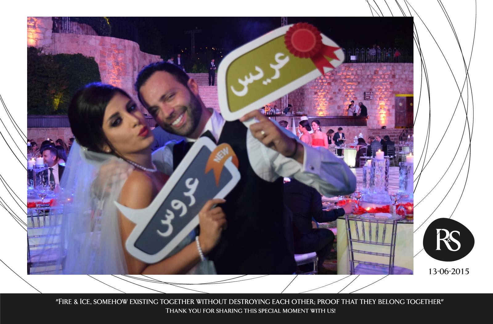 Photobooth Maison Ramzi Weds Sally Ice Fire Wedding With Selfiesbox Photobooth