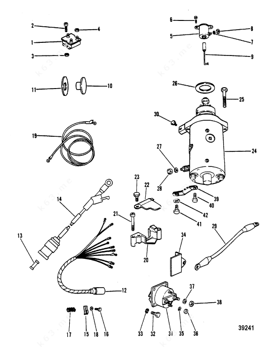 wiring diagram for 70 mercury outboard starter