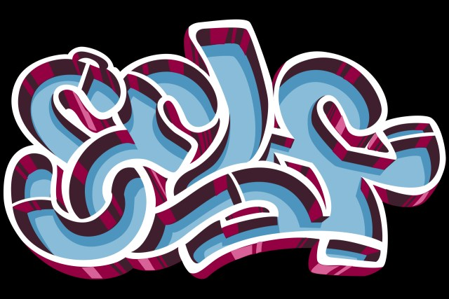 self selfuno graffiti letter piece sketch digital illustration deep dish style december 2013