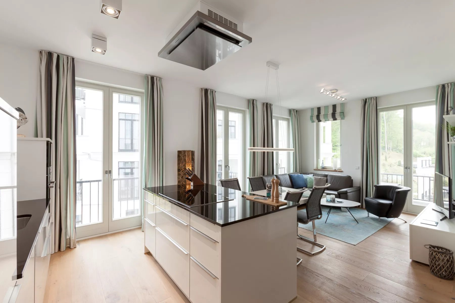 Eichendielen Wohnzimmer Appartement 24 Waterkantsuite Arcona First Sellin