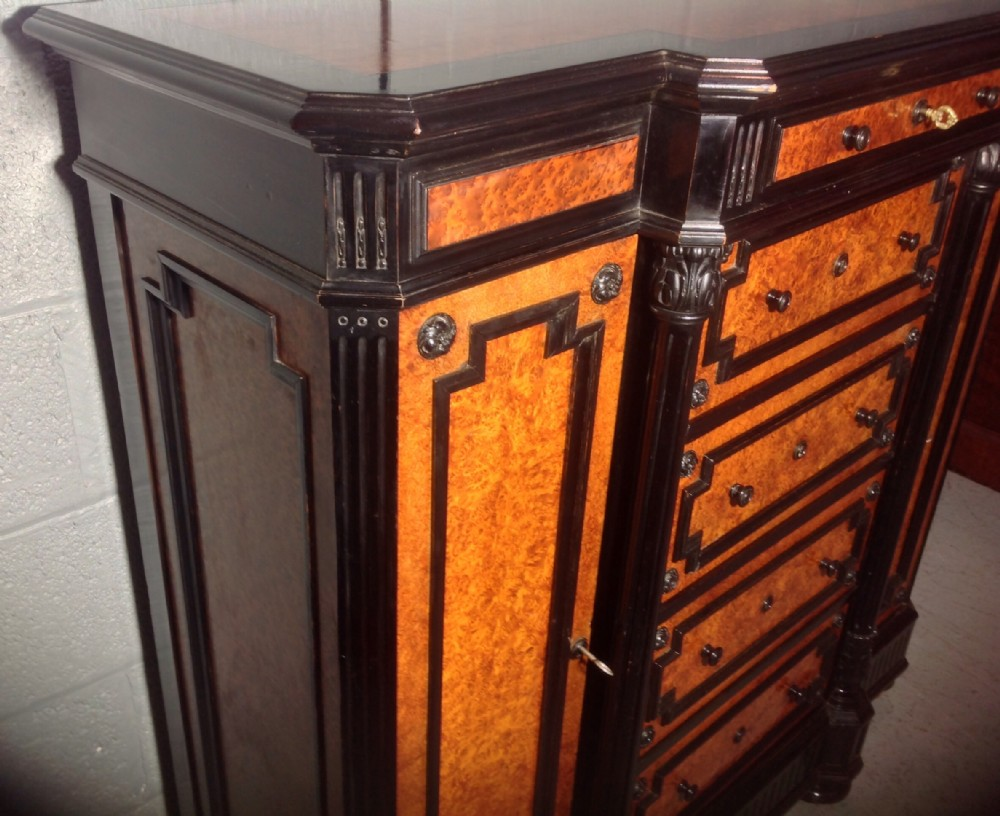 Vintage Sideboard For Sale Uk French Credenza In Amboyna And Ebonised Walnut 492527