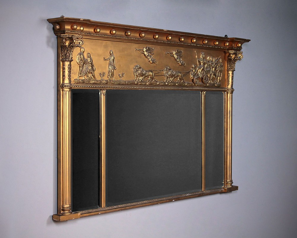 Overmantle Mirror With Classical Frieze C 1890 491177 Sellingantiques Co Uk