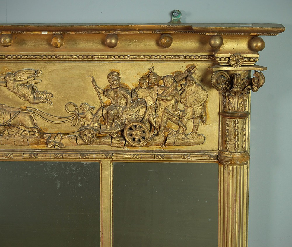 Late 19th C Triple Plate Gilt Overmantle Mirror C 1880 632294 Sellingantiques Co Uk