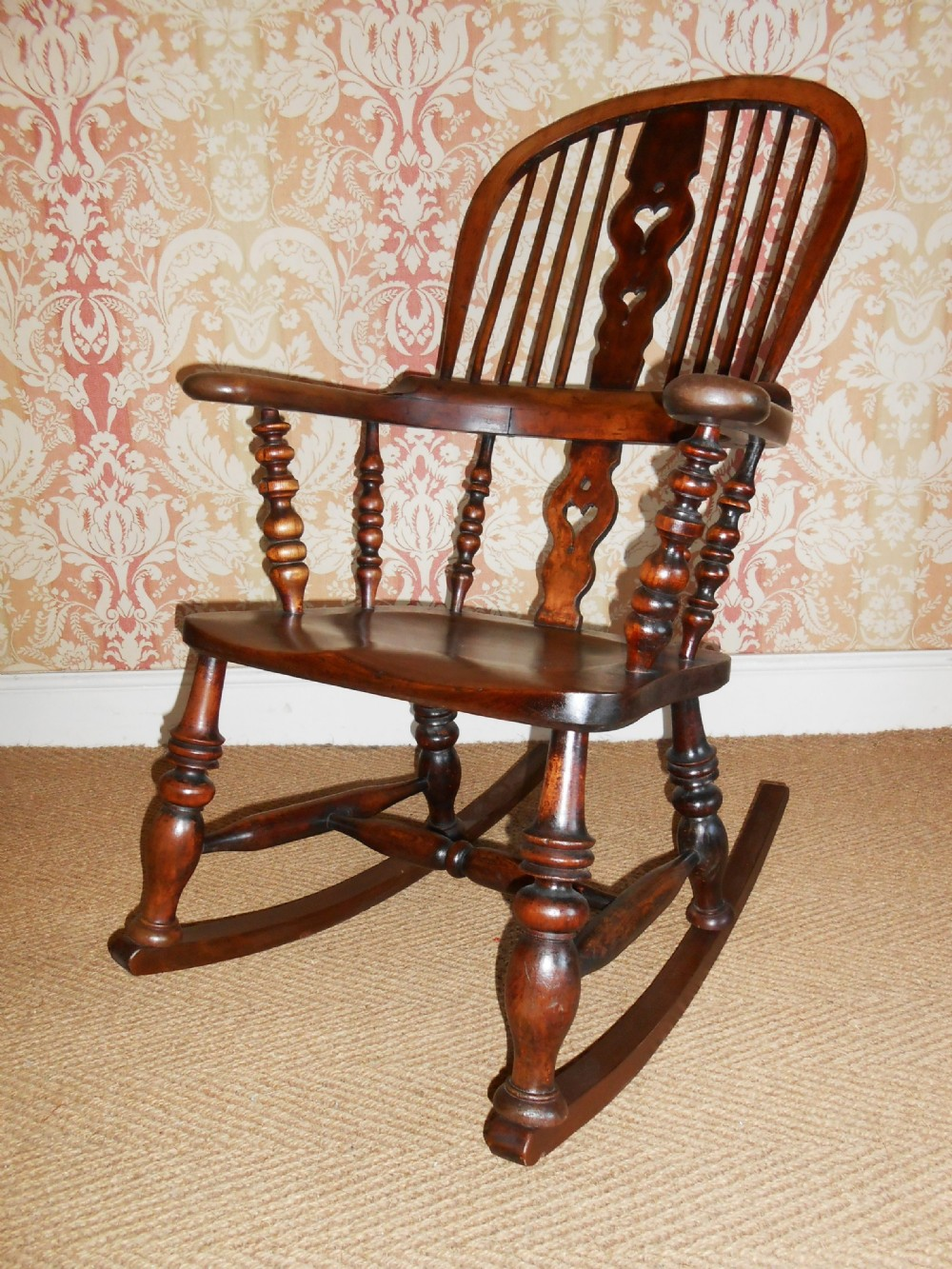 Wayfair Victorian Chairs Victorian High Back Windsor Rocking Chair 304225
