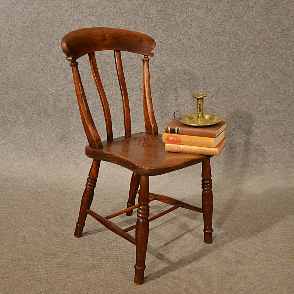 Wayfair Victorian Chairs Antique Elm Kitchen Lath Back Side Dining Windsor Chair