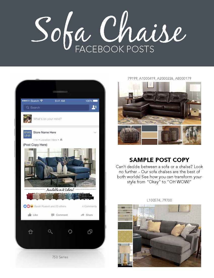 Promo Chaise Social Media Content Sell Sofas
