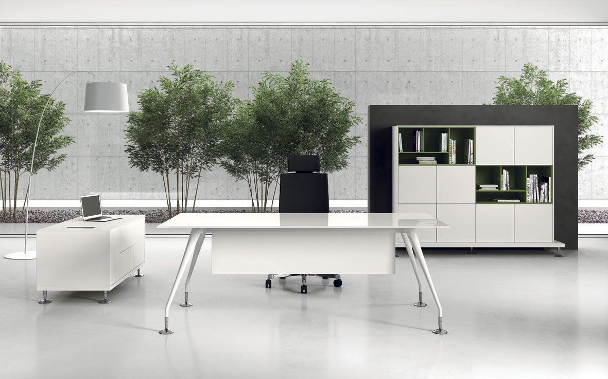 Bureau De Direction Design Blanc Seloma Amenagement Rubrique Enosi Evo Le Bureau