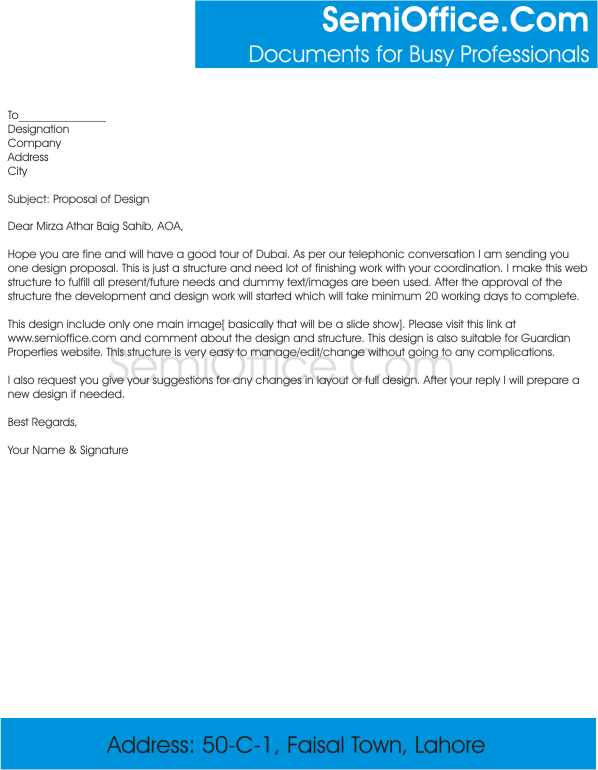 Cover Letter for Sending Business Proposal to Comapany - business proposal cover letter