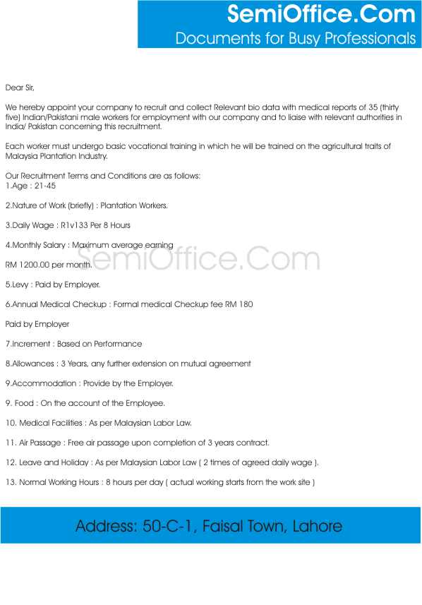 Employee Contract Agreement Format India  Create Professional