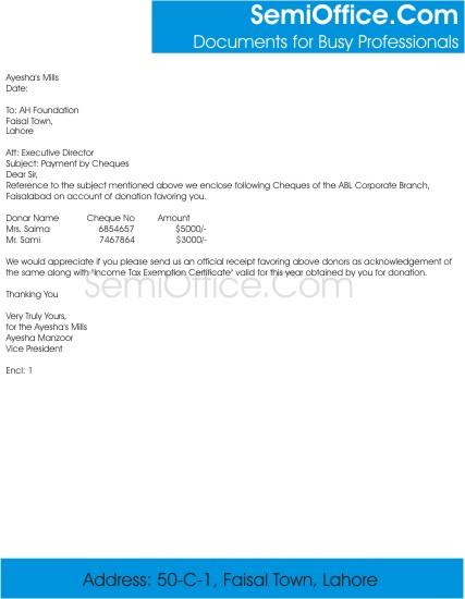 Sending Letter Format - mail letter format