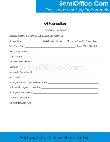 Employee Clearance Form for Resigning and Termination - employee termination form