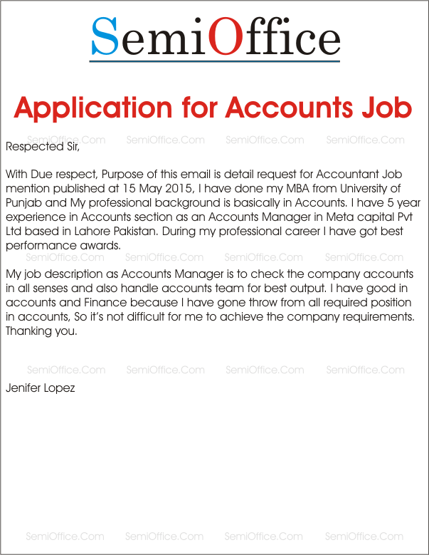 Resume Cover Letter For Accounting Jobs Job Application For Accountant Positions
