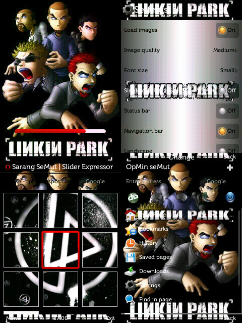 skin OPERA MINI 7.0 linkin park