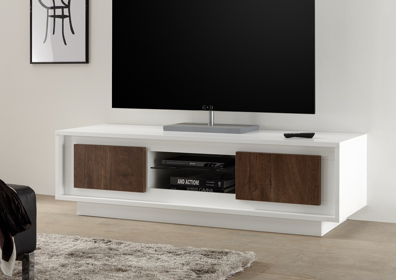Tv Sideboard Modern Amber Iii Modern Tv Stand In White And Oak