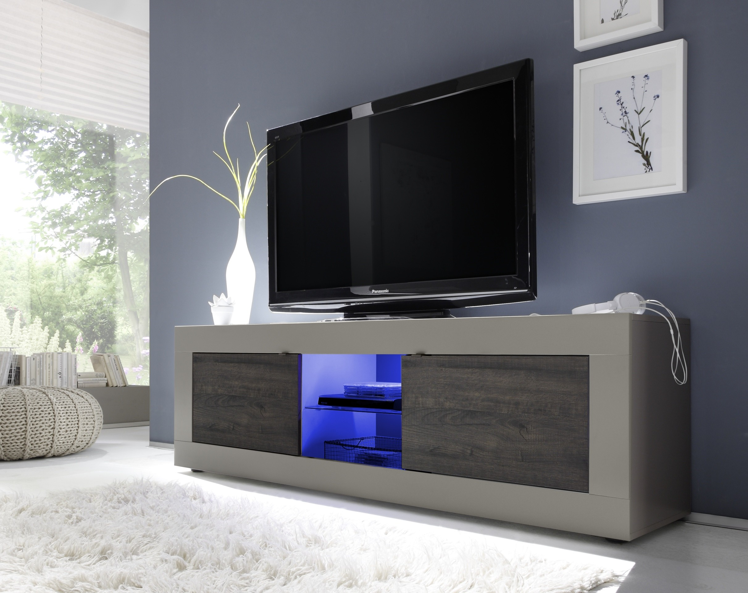Buffet Enfilade Blanc Dolcevita Ii Modern Tv Stand In Matt Finish - Tv Stands