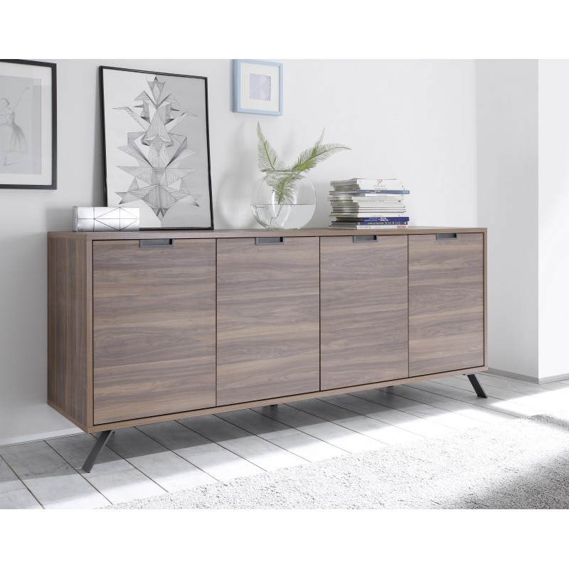 Nussbaum Sideboard Parma Dark Walnut 4 Door Sideboard - Sideboards (1811