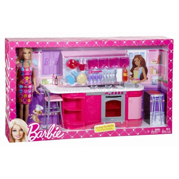 barbie cooking fun kitchen barbie furniture kitchen home improvements refference kitchen furniture dolls