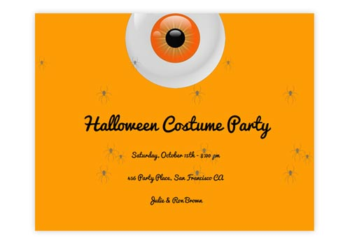 Spooky Animated Online Halloween Invitations - halloween invitation
