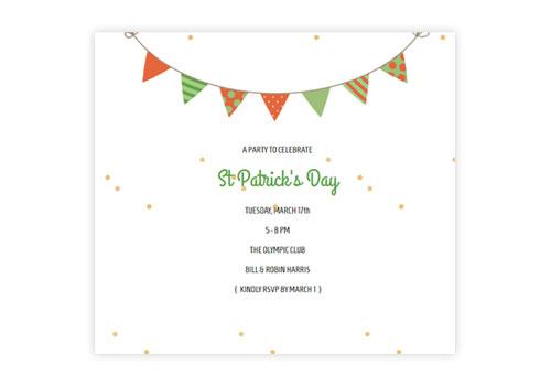 Festive St Patrick\u0027s Day Email Invitations