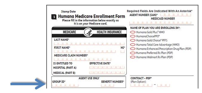 Group ID and Benefit Number are Required on all Humana MA/MAPD/PDP - medicare application form