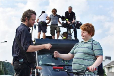 Regisseur Bruno Deville mit seinem 'Bouboule' David Thielemans © Filmcoopi