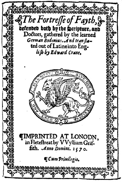 The Fortresse of Fayth, Title Page