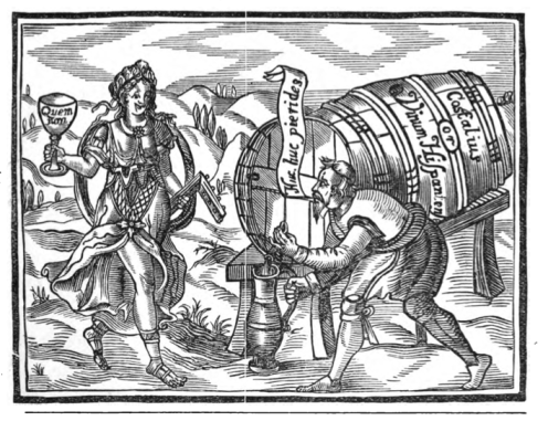 "My favorite part of this woodcut has to be the ""Quem Non"" Goblet. I must have one of these made at some point."