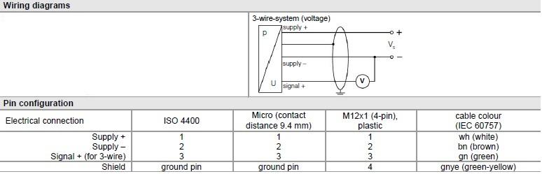 Level sensor 0-6mH2O,0-10V,PUR 10m cable, Pressure transmitters