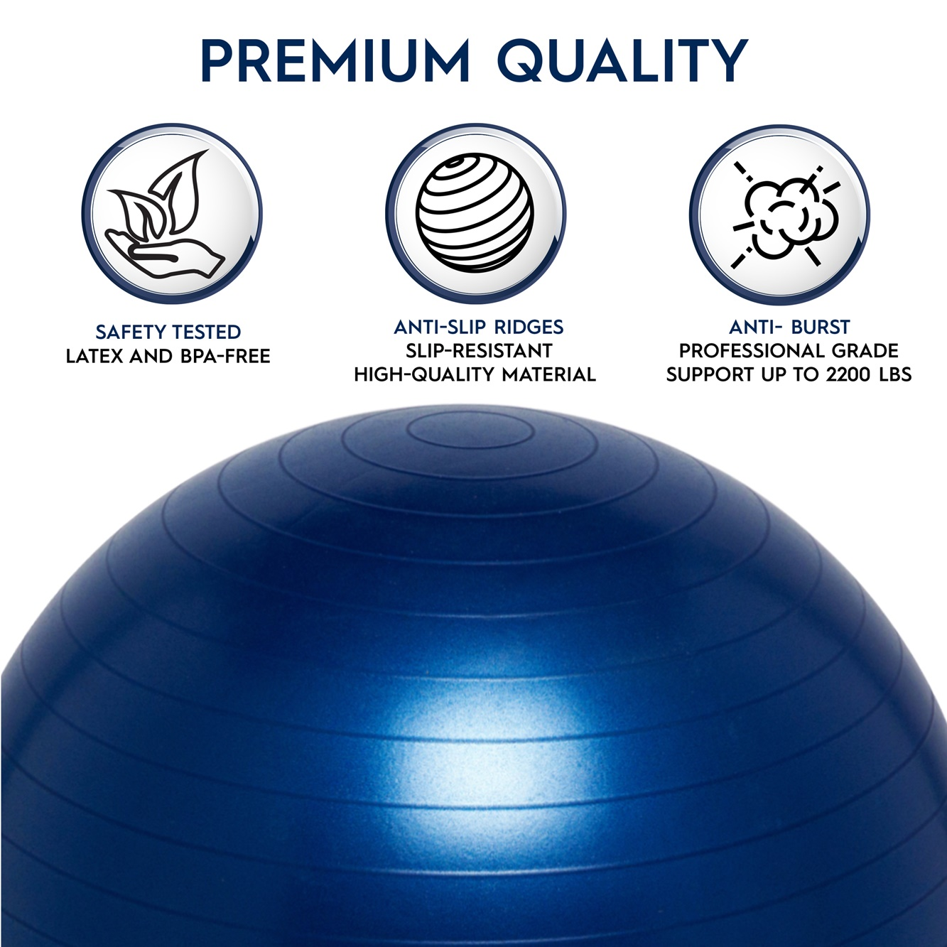 Ball Chair Yoga Balance Ball Chair For School And Home. 45cm - Blue : Sensory Toy Warehouse